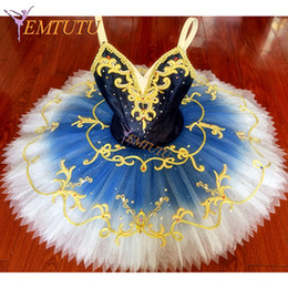 trajes de aves azuis Desconto Ombre Azul Le Corsaire ballet profissional tutu Blue Bird performance panqueca tutus Bela Adormecida traje de balé estágio Personalizado