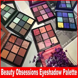 Paletes de maquiagem on-line-Beleza Obsessões de Maquiagem Paleta de Sombra de Olho 9 paletas de cores 5 Estilo Topázio De Ametista Rubi Esmeralda Sombra de safira