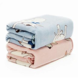 Wholesale Large Pyramid - Cute Bull Terrier Coral Fleece Warm Pet Bed Mats House Soft Blanket for Cats Dogs Towel Soft And Comfortable