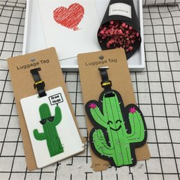 Wholesale Cream Tags - Creative PVC Flexible Glue Boarding Pass Cactus Unicorn Ice Cream Airport Luggage Tag Multi Pattern Optional Card Sleeve 1 7lb Y