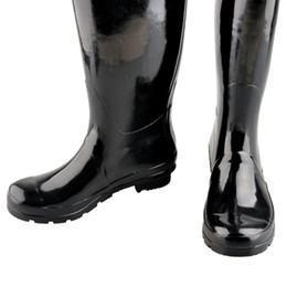 Wholesale Blue Tall Boots - Women High Tall Rain Boot Women Wellies Rainboots Ms. Glossy Wellington Rain Boots Wellington Knee Boots Fast Delivery