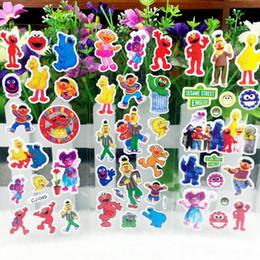 Niños puffy pegatinas online-Envío gratis 10 Hojas calle de Sésamo Hinchada Pegatinas de Burbujas de Dibujos Animados Waterpoof Juguetes DIY para Niños Niños Boy Girls escuela premio