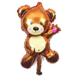 Bear Balloon juguetes para niños fiesta de cumpleaños decoración globos de aluminio al por mayor Lovely Bear decoración de la boda desde fabricantes