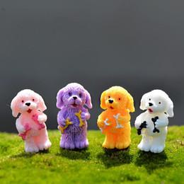 Cani paesaggistici online-Fairy Garden Miniature Cucciolo Artigianato in resina Artigianato per capelli ricci Ornamento Origine Materiale Fai da te Paesaggio Micro Paesaggio 0 7cj ff