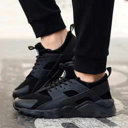 Wholesale Fabric Styles - (with box)Wholesale Men Women Air Huarache 4 Running Shoes 4s good fashion style grey Red Huaraches fashion Sports Shoes 36-45