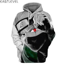 Wholesale japanese style men hoodies - Dropshipping New Styles Hooded Sweatshirt Men Women Japanese Cartoon Naruto Printed Mens Hip Hop Hoodies and Sweatshirts