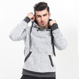 Wholesale Unique Sweatshirts - crossfit MMA Clothing 2017 New High-End Casual Hoodie Men'S Fashion Unique Korean Style Long-Sleeved Sweatshirt