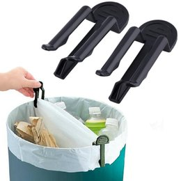 Wholesale Bin Bag Holders - Wholesale- 4PCS 2Set Practical Trash Can Clamp Plastic Garbage Bag Clip Fixed Waste Bin Bag Holder Rubbish Clip Cheap And Hot