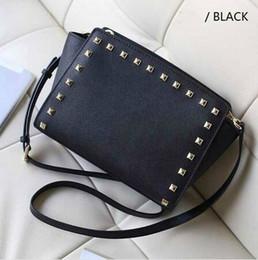 Wholesale Handbags Smiley - Free shipping 2017 star models with cross pattern PU leather handbags and small rivet smiley bat bag shoulder bag Messenger bag