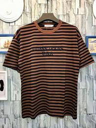 Wholesale rocky red - 2018ss summer men t shirt US size M -XXL A$AP Rocky Joint Embroidery stripe Tee Ian Connor women men hiphop casual oversize t shirt men TEE