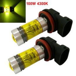 2020 bombillas amarillas h11 2 unids H8 H11 100W 4300K Luz amarilla LED Luz antiniebla del coche Conducción Proyector DRL Bombillas CLT_07K rebajas bombillas amarillas h11
