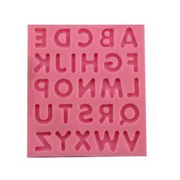Wholesale alphabet silicone mould - Alphabet Cake Mold Fondant Cake Mold Silicone Alphabet Letter Chocolate Mould Baking Tool Decorating