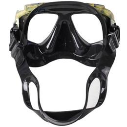 attrezzatura per pesca subacquea Sconti Professionale Disguise Camouflage Scuba Dive Mask Underwater Myopic Lenti ottiche Snorkeling Gear Pesca subacquea Swim Goggles
