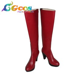 Cosplay вокалоид бесплатная доставка онлайн-CGCOS Бесплатная доставка косплей обувь VOCALOID Meiko сапоги игры манга аниме Хэллоуин Рождество