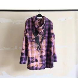 Tie-dye Sudadera con capucha Sudaderas con capucha Diseño de fragmentos Sudaderas con capucha Hombres Mujeres 1a: 1 Alta calidad 2018 Nueva llegada Púrpura desde fabricantes