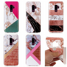 Wholesale clear marbles - Fashion Soft TPU IMD Case For Galaxy S9 Plus S8 S7 Note 8 A8 2018 Marble Cover Hybrid Natural Silicone Rock Stone Cell Phone Luxury Skin