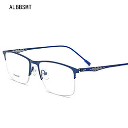 9aa447bbe0a1 2018 TR90 Titanium Glasses Frame Men Myopia Eye Glass Prescription  Eyeglasses 2018 Korean Screwless Optical Frames Eyewear
