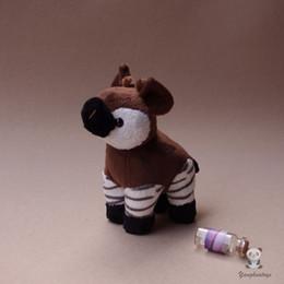 Bonecas de pelúcia de uma peça on-line-Crianças Brinquedos Presentes Simulação Okapi Boneca De Pelúcia Africano Pastagem Animais Brinquedo Raro Kawaii Um Pedaço