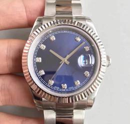 Bracelets en diamant saphir en Ligne-Haute qualité montre de luxe 4 styles 41MM diamant cadran AAA + automatique en acier inoxydable 316L bracelet véritable montre de mouvement Sapphire