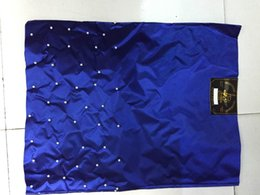 Wholesale Gele Head - 10 packs 20 pieces Beaded African sego headtie head tie gele royal blue Headscarf Headgele with lots of beads
