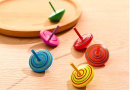 bunte flash-spinnerei Rabatt Kinderspielzeug, kreative Holzhand, kleiner Kreisel, Schüler, Neuheit, Auspacken, Nostalgie, Gyro, Kindergarten, kleine Geschenke