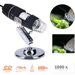 Wholesale Gadgets Video - Portable USB Digital Electronic Microscope 8 LED Magnifier 1000X Video Camera Repair Tool USB Gadget