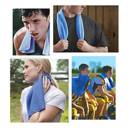 ice belts Coupons - 90*35cm Double Layer Ice Cooling Towel Cool Summer Cold Sports Towels Instant Cool Dry Scarf Soft Breathable Ice Belt Towel for Adult Kids