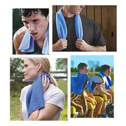 Asciugamano di raffreddamento di ghiaccio di doppio strato di 90 * 35cm Asciugamano di sport freddo di raffreddamento fresco di estate Asciugamano asciutto fresco di raffreddamento morbido Asciugamano traspirante della cinghia di ghiaccio per i bambini adulti da