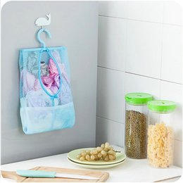 Wholesale Plastic Mesh Bags - New Multifunctional Hanging clothespin Storage Bag Mesh Bag Dust Cover Storage Home Organizer