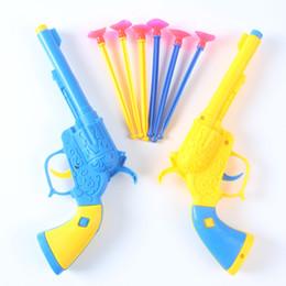 2019 kit di ingranaggi in plastica Spedizione gratuita 2 piccoli giocattoli all'ingrosso Bambini Soft bullet gun CARD Ventosa pistola Giocattoli per i regali dei ragazzi