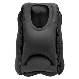 inflatable rectangle travel pillow UK - Travel Pillow Inflatable Pillows Air Soft Cushion Trip Portable Innovative Products Body Back Support Foldable Blow Neck Pillow