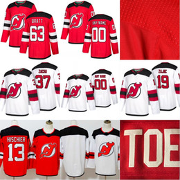 New Jersey Devils Jerseys 63 Jesper Bratt 90 Marcus Johansson 37 Pavel  Zacha 19 Travis Zajac 2017-18 Season All Stiched Hockey Jerseys inexpensive  devils ... dcb5a3ffd