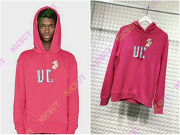 Diseñador de moda marca ropa para hombre sudaderas con capucha Europa rosa Italia bordado carta animal print streetwear jersey sudadera Jumpers desde fabricantes