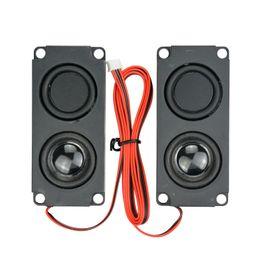 Wholesale double diaphragm - Portable Audio Video Speakers AIYIMA 2Pcs Audio Portable Speakers 10045 LED TV Speaker 8Ohm 5W Double Diaphragm Bass Computer Speaker