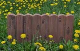 bordo giardino fiorito Sconti Fiori Yard Piantare recinzione Cemento artificiale Pietra Maker Stampo Log Bordatura Border Plastica Stampo in calcestruzzo Stampo Fai da te Decorazioni da giardino