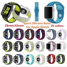 42mm 38mm Kauçuk Silikon Watch Band Spor Bilek Sapanlar Akıllı Apple iWatch Serisi için Daha Fazla Delik Kordonlu Saat 1/2 ... nereden