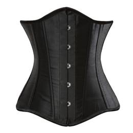 2019 erwachsene sexy nacht tragen Spiral Steel ohne Knochen Unterbrust Korsett schwarz sexy Frauen Bustier schnüren ohne Knochen Dessous Plus Größe XS-6XL