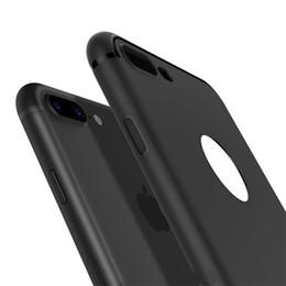 Canada Vente directe d'usine de luxe bleu rouge noir dépoli mince étui en TPU souple étui en silicone pour iPhone x 10 8 7 6 6S Plus coque arrière complète cheap iphone blue thin case Offre