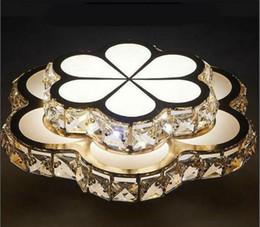 Moderno Led Plafón Dorado Crystal Abajour Corredor Lámparas Lustre Flor Plafonnier Luminaria Iluminacion Dormitorio lampe LLFA desde fabricantes
