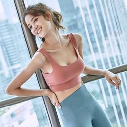 tipi schienali del reggiseno Sconti Underwear Woman Shockproof Run Gather Together Finalizza il design posteriore Sexy Vest Type Major Bra Bodybuilding Reggiseni Yoga
