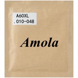 2019 cuerdas de bronce Amola A60XL 010-048 Cuerdas de guitarra acústica 2 sets / lote Acero Phosphor Bronze Wound Accesorios para partes de guitarra cuerdas de bronce baratos
