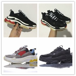 Wholesale Elevator Sneakers - Retro Triple S Men and Women Running Shoes Original Mens Shoes Top Quality Elevator Sports Boots Sneakers Women's Sport Boost
