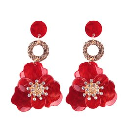 Wholesale American Fashion Online - Personality Fashion New Pattern Alloy Decorative Pattern Second Gram Force Flower Earrings Earring Woman Online Retailers New Product