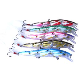 Wholesale salmon fishing baits - 5PCS Fishing Topwater Lures Group Fish Minnow Plastic Fishing Bait for Saltwater Freshwater Bass Trout Walleye Salmon Musky FishingCrankb
