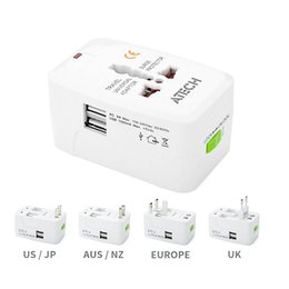 Wholesale Universal Travel Adaptors - 2017 All in One Universal International Plug Adapter World Travel AC Power Charger Adaptor with AU US UK EU converter Plug