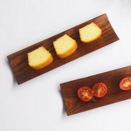 джутовая древесина Скидка 18*5.5 см мармелад деревянный лоток японский суши сашими дерево прямоугольное блюдо тарелка закуски лоток сушеные фрукты плиты ZA6253
