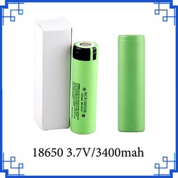 Wholesale electronic cigarette li - 2018 NCR18650B Battery 3.7V 18650 Lithium Battery Li-on Cell 3400mAh Flat Top fit any electronic cigarette mods FEDEX Free