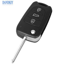 Coperture auto di hyundai online-Dandkey Flip Remote Key Shell per HYUNDAI I30 IX35 Car Keys Blank Cover Case Uncut Blade 3 pulsanti
