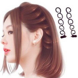 Wholesale Hot Rollers Style - Random Color 2 Pcs Twist Magic Hair Braid Tools Weave Hot DIY Fashion Accessories Styling Roller
