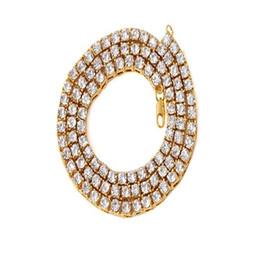 Ювелирные изделия ожерелья mens онлайн-Mens Hip hop Necklace Iced Out 1 Row Rhinestone Choker Punk Bling Crystal Tennis Chain Necklace 18inch-30inch Fashion Jewelry
